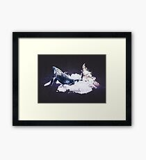 Whale Space Dreams Framed Print