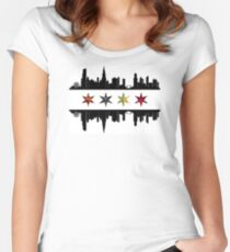 Team Chicago Women's Fitted Scoop T-Shirt
