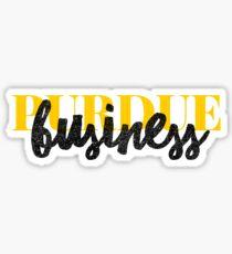 Purdue Business - Style 1 Sticker