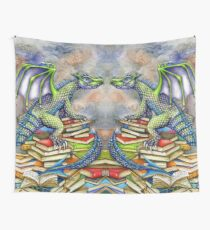 The Bookwyrm's Hoard - Doubled! Wall Tapestry