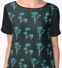 Rainy Trees Chiffon Top