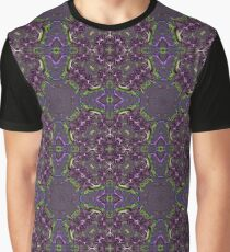 Purple and Green Fractal - Seamless Pattern Graphic T-Shirt