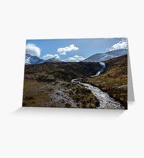 Spring Waterfall on Skye Greeting Card