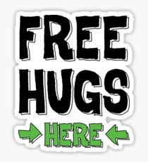 Free hugs here Sticker