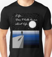 """Hitchhiker's Guide to the Galaxy - Marvin - """"Life...Don't talk to me about life""""  Unisex T-Shirt"""