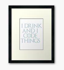 Code Things Framed Print
