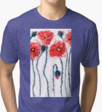 Oil poppy  Tri-blend T-Shirt