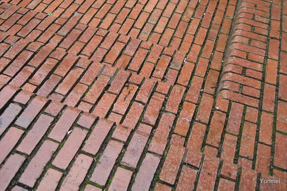 Brick Steps Down by Yonmei