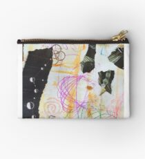 Mod Pink Collage Studio Pouch