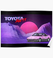 Toyota MR2 - AW11 Poster