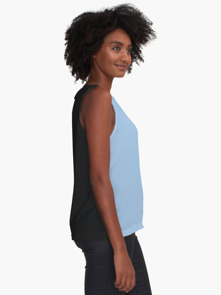 Alternate view of Baby Blue Solid Color Decor Sleeveless Top