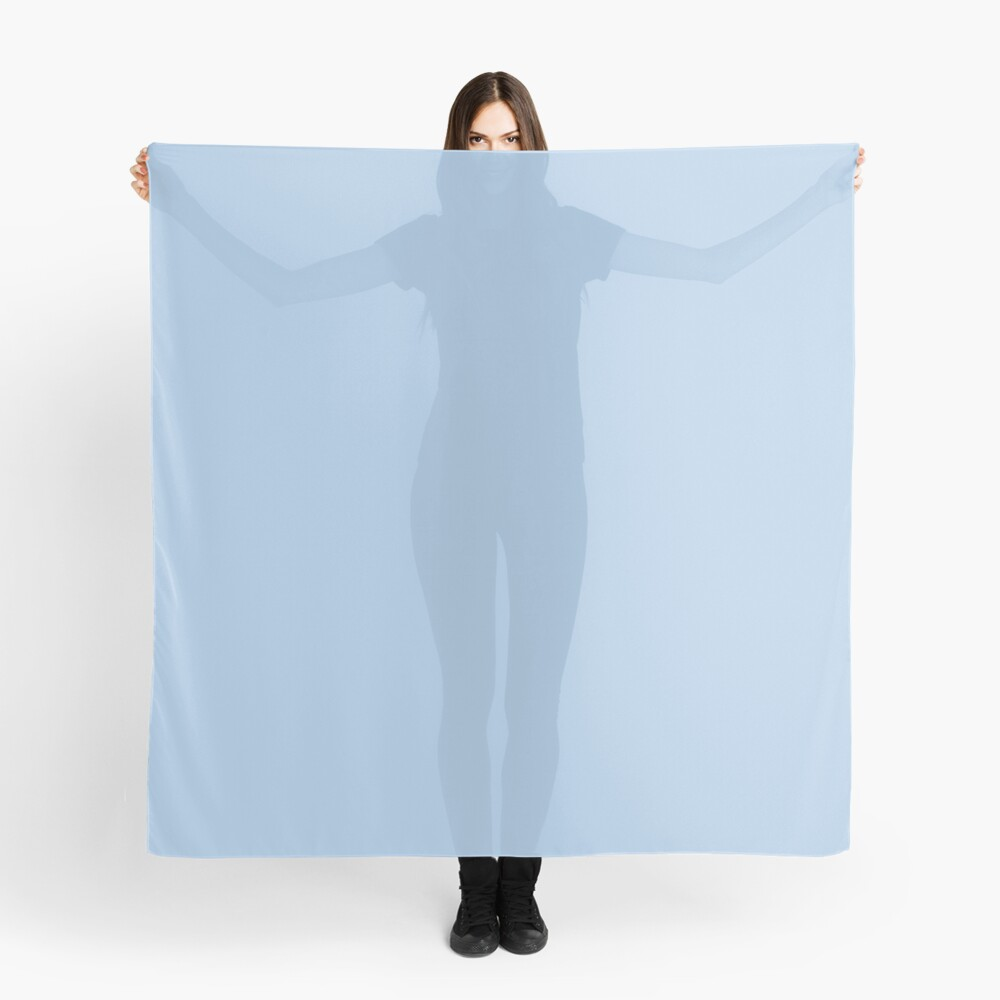 Baby Blue Solid Color Decor Scarf