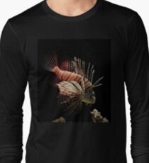 Lionfish Swimming at Night  Long Sleeve T-Shirt