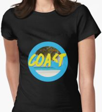 Coast on the beach Womens Fitted T-Shirt