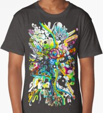 Tubes of Wonder - Abstract Watercolor + Pen Illustration Long T-Shirt