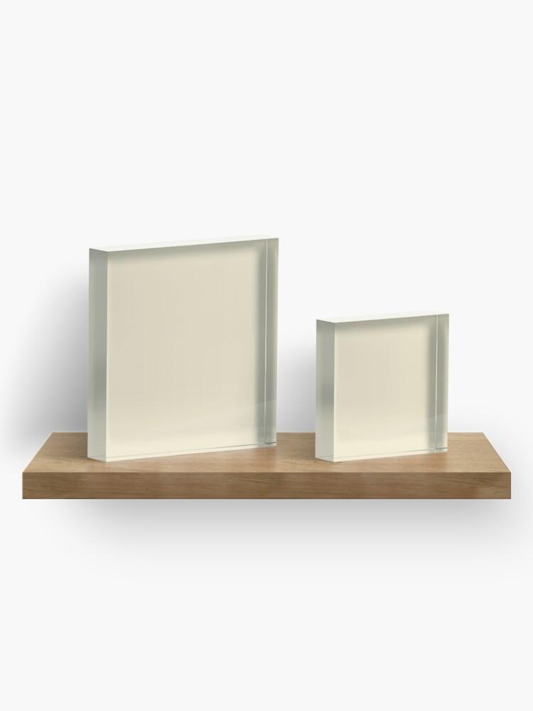 Alternative Ansicht von Builder's Beige Volltonfarbe Dekor Acrylblock