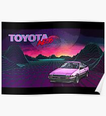 Toyota Corolla AE86 Poster