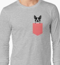 Kennedy - Boston Terrier customizable dog gifts for pet owners and Boston Terrier gifts for dog lovers Long Sleeve T-Shirt