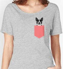 Kennedy - Boston Terrier customizable dog gifts for pet owners and Boston Terrier gifts for dog lovers Women's Relaxed Fit T-Shirt