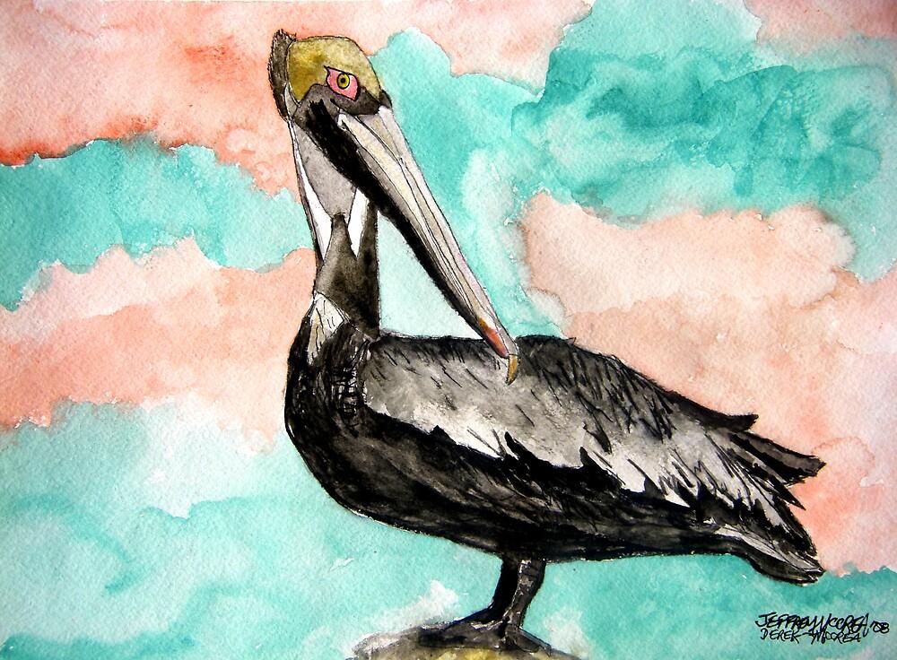 pelican bird 3 by derekmccrea