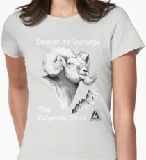 Colorado Trail - Rocky Mountain Bighorn Womens Fitted T-Shirt