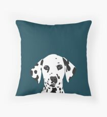 Ryan - Dalmatian Dog Print for Dog Lover, Pet Owner Throw Pillow