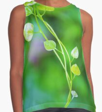 Cute Little Leaves on Intertwining vines  Contrast Tank
