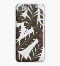 Wet Plate Effect Vintage Tropical Leaf Pattern iPhone Case/Skin
