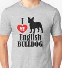 Heart English Bulldog Unisex T-Shirt