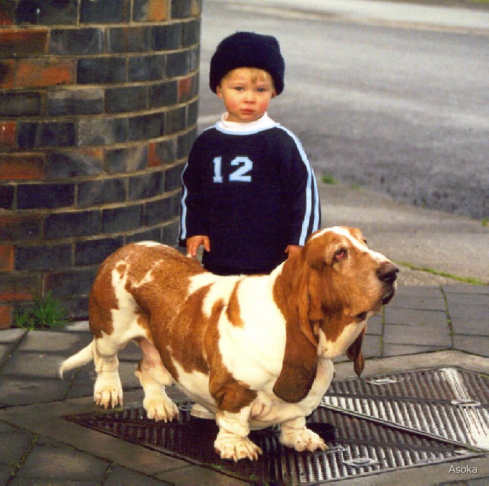 Small Child; Big Dog by Asoka
