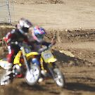 Loretta Lynn SW Area MX Qualifier Mini Blurr - Collision Pushing my thru the turn @ Competitive Edge MX Hesperia, CA, (305 Views as of May 9, 2011) by leih2008