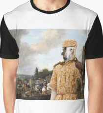 Borzoi - Russian Wolfhound Art Canvas Print - Setting off on a falcon hunt  Graphic T-Shirt