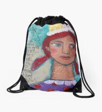She Loved Them All Drawstring Bag