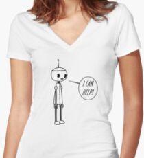 Vintage Minsky 5 Women's Fitted V-Neck T-Shirt