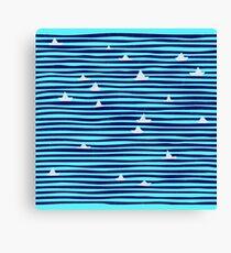 Origami boat on the sea Canvas Print
