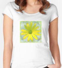 Refreshing Sun and Rain Flower Women's Fitted Scoop T-Shirt