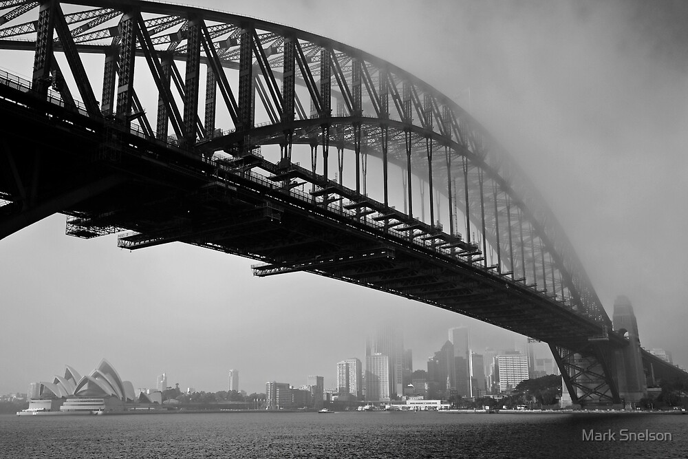 Sydney Harbour Fog by Mark Snelson