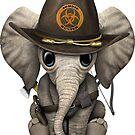 Baby-Elefant-Zombie-Jäger von jeff bartels