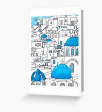 Santorini Blue and White Paradise Greeting Card