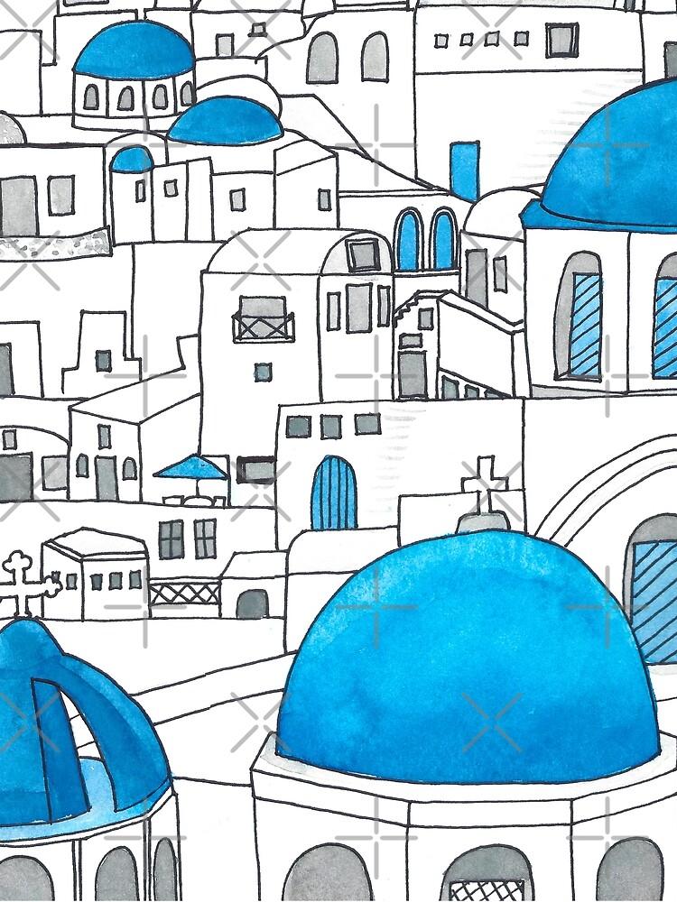 Santorini Blue and White Paradise by jenbucheli