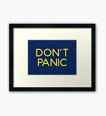 Impractical Jokers shirt - Don't panic Framed Print