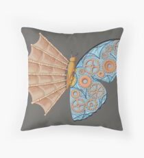 Schmetterling Steampunk  Throw Pillow