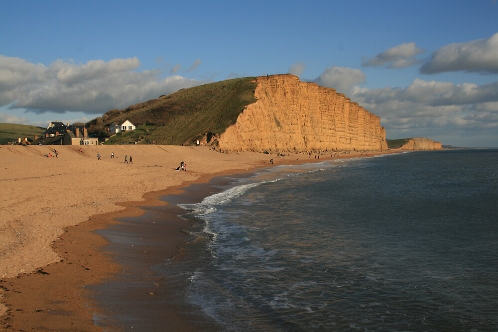 East Cliff, West Bay by RedHillDigital