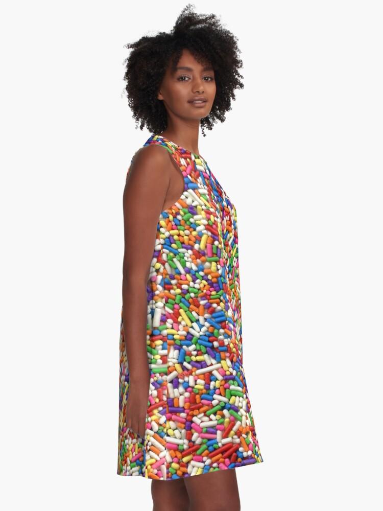 Alternate view of Rainbow Sprinkles A-Line Dress