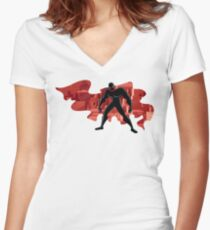 Superhero Abstract 2 Women's Fitted V-Neck T-Shirt