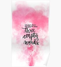 Pink Shawn Mendes- Three empty words Poster