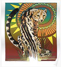 King Cheetah - Color 1 Poster