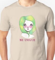 Be Unique: Pretty Green Haired Girl  Unisex T-Shirt