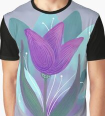 Tulip and Lotus Blossoms Graphic T-Shirt