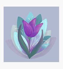 Tulip and Lotus Blossoms Photographic Print